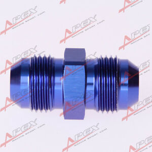10AN-10AN-To-AN10-AN-10-Aluminum-Straight-Male-Union-Fitting-Adapter-Blue