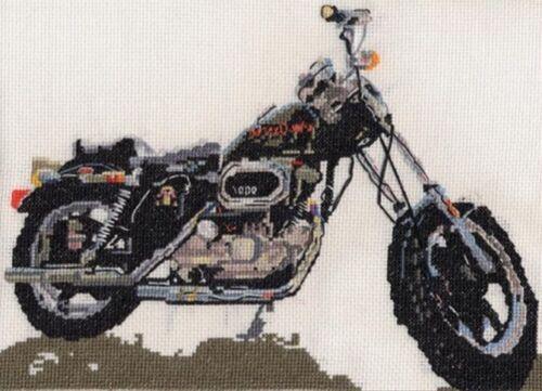 BSA Goldstar Harley Davidson Sportster Fat Boy motorbike cross stitch kit AJS