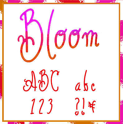 Sizzlits Bloom Alphabet 35 dies #654375 Retail $149.99 RETIRED, Swirly & Curlie!
