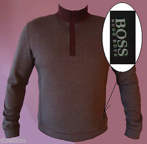 NWT-Hugo-Boss-Black-Label-Half-Zip-Sweater-Mock-Neck-Knit-Pullover-Size-XL