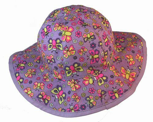 Bright & Fun BUGGZ Butterfly Cotton Sunhat     Sizes 1-3 & 3-6 years