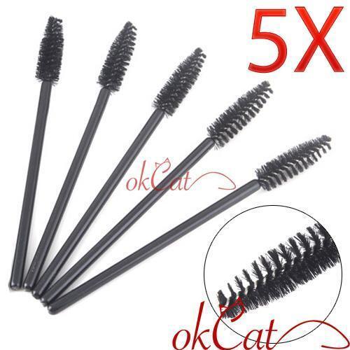 5 X Beauty Disposable Eyes Lash Mascara Wands Brush
