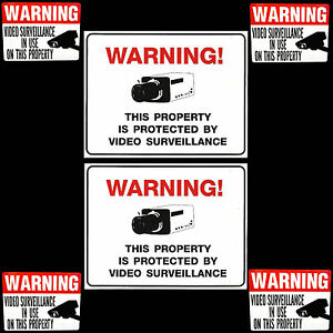 PARTY-STORE-SECURITY-SYSTEM-VIDEO-CAMERA-BURGLAR-ALARM-WARNING-SIGNS-STICKER-LOT