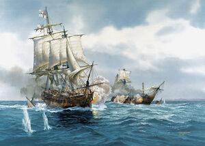 Diana-Tom-Freeman-Naval-Artist-Proof-HMS-Diana-Captures-French-Brig-1803