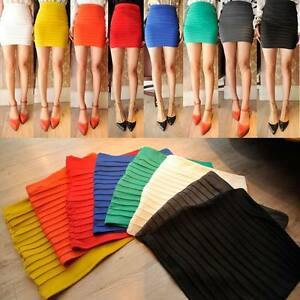 10-Candy-Color-Women-Gir-Lady-MINI-SKIRT-Slim-Fit-Seamless-Stretch-Tight-Fitted