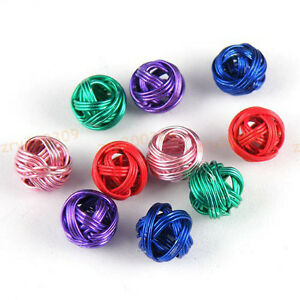 30Pcs-Round-Metal-Winding-Beads-8mm-5-Colors-1-or-Mixed-T1222