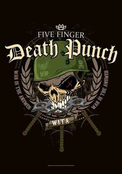 Five Finger Death Punch 5FDP War Head Warhead  29X43 Cloth Fabric Poster Flag !