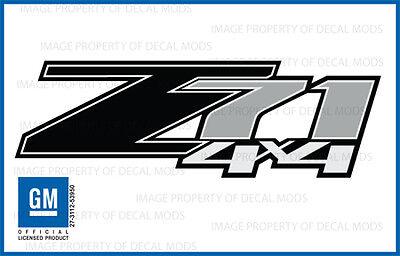07 - 12 Chevrolet Silverado Z71 4x4 decals - FB - 1500 BLACK GM stickers Chevy