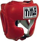 TITLE Boxing Traditional Training Headgear, Red, Large
