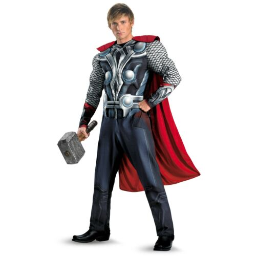XXL THOR THE AVENGERS MUSCLE CHEST MAN MENS SUPERHERO FANCY DRESS COSTUME