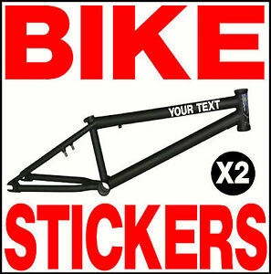 X CUSTOM PERSONALISED VINYL STICKERS FOR BMX BIKE  EBay - Personalised vinyl stickers