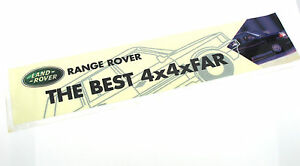 Genuine-New-RANGE-ROVER-THE-BEST-4X4XFAR-WINDOW-STICKER-HSE-SE-DT-Classic-TDV8