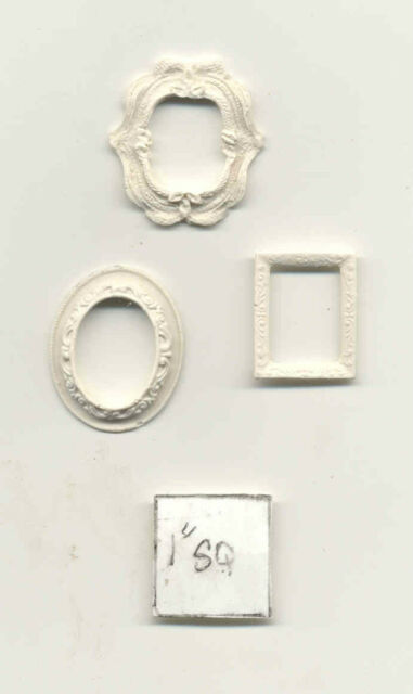Picture Frame Set - UMP26  cast polyresin  dollhouse miniatures  1/12 scale  3pc