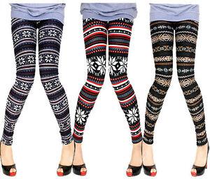 ReneeSox-Christmas-Nordic-Pattern-Fleece-Lined-Thermal-Knitted-Wool-Leggings-S