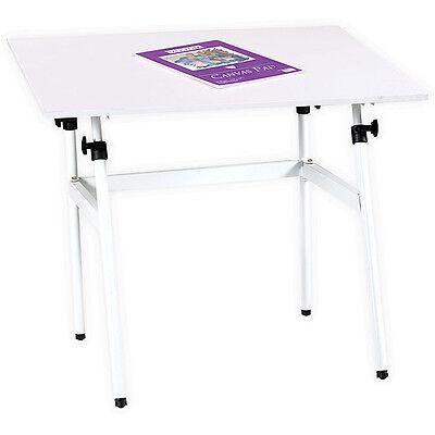 "White Adjustable Folding 30"" x 42"" Drawing Table Desk | Artist Art Drafting Work"