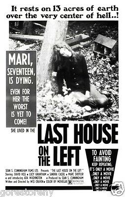 THE LAST HOUSE ON THE LEFT Movie Poster Horror Wes Craven 1972