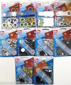 Prym-Eyelets-Washers-amp-Fixing-Tool-Choice-Of-Size-amp-Colour