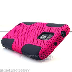 Pink-Black-APEX-Dual-Layer-Hard-Case-Samsung-Galaxy-S2-Hercules-T989-T-Mobile