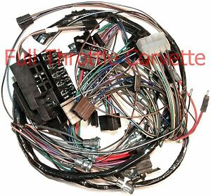 1964 64 corvette dash wiring harness. with back-up lights ... 64 c10 wiring harness 64 corvette wiring harness