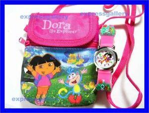 New-DORA-the-explorer-Kids-3D-Watch-amp-Shoulder-Bag-NEW-Free-shipping-fee