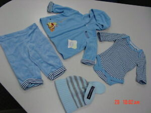 NWT-Disney-Baby-3-pc-Blue-Outfit-Infant-Boys-Tigger-NEW-Unused-Child