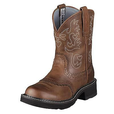Ariat Ladies Fatbaby Saddle Cowgirl Western Riding Boots Russet Rebel 10000860