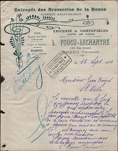 ORBEC-14-ENTREPOT-des-BRASSERIES-de-la-MEUSE-034-L-FOUCU-amp-LECHANTRE-034-en-1912