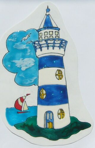 Elas Fensterbilder Leuchtturm Steuerrad ... Maritimes Seemann