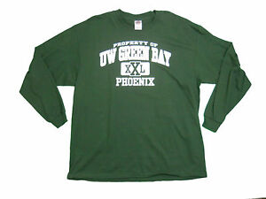 Wisconsin green bay phoenix adult green screen printed for South bay t shirt printing