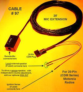 cable remote mic mike extension motorola cdm cdm cdm image is loading cable 97 remote mic mike extension motorola cdm