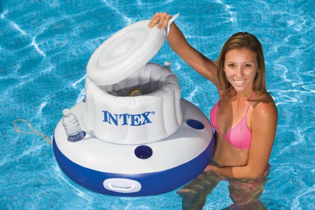 INTEX MEGA CHILL INFLATABLE FLOATING SWIMMING POOL LAKE COOLER BEVERAGE HOLDER