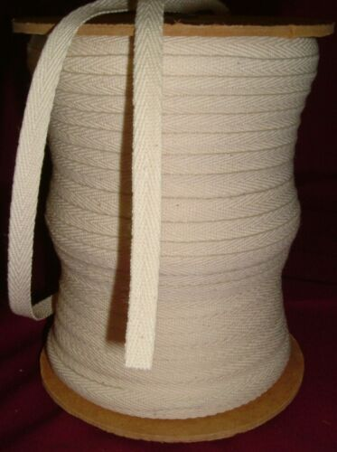 Different Colour Options 10mm Herringbone Tape Cotton Bunting Apron 10 metres