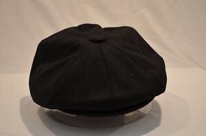 BLACK-TWENTIES-THIRTIES-VICTORIAN-EDWARDIAN-PEAKY-BLINDERS-8-PIECE-CAP