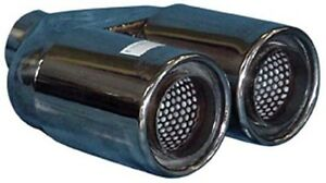 TWIN-3-034-Exhaust-Tip-Stainless-Steel-Double-Skin-2-25-034-Inlet-NEW-A01-063