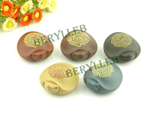High Quality Small Handmade Yixing Zisha Tea Pet Water Spray Longevity Tortoise