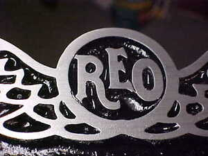 reo casting of aluminum Showcasing reo 1920 s available for purchasing now showcasing our large collection of reo 1920 s for sale right now  reo speed wagon truck radiator emblem medallion 1920s 1930s cast aluminum 2 size reo speed - $28500 reo speed wagon radiator emblem medallion 1920s 1930s acid etched  c1920's style early reo classic auto metal.