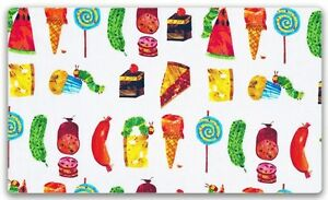 The-Very-Hungry-Caterpillar-Snacks-100-Cotton-Fabric-FQ-50cm-x-55cm
