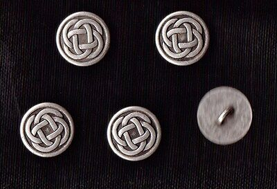 CELTIC KNOT  METAL SHANK  BUTTONS  SIZE 24 - X 5 - GOTHIC