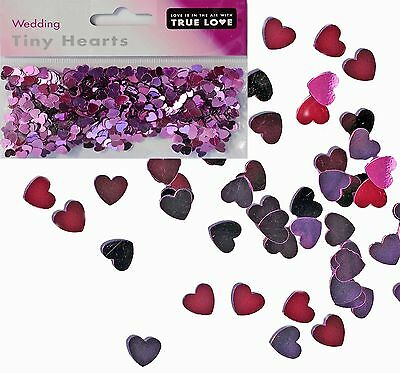 Tiny Heart Foil Wedding Confetti Table Scatter Decoration **Free UK Postage**