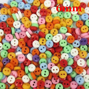 600-Pcs-Random-Mixed-2-Holes-Resin-Sewing-Buttons-Scrapbooking-6mm-Knopf-Bouton