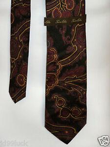 New-Mens-100-Silk-Tasso-Elba-Purple-Gold-Black-and-Blue-Paisley-Neck-Tie