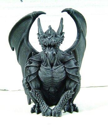 "Winged Heavy Armored Guardian Gargoyle Statue 6""H Figurine Nightwatch Man"