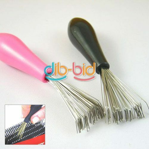 Hot Comb Hair Brush Cleaner Cleaning Remover Embedded Plastic Handle Tool