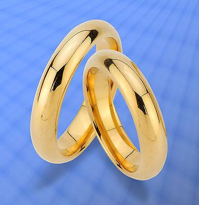 2 Ringe Trauringe Eheringe, Ip Gold Platierung , Wolfram , Unkratzbar .. Jw29 Durchsichtig In Sicht