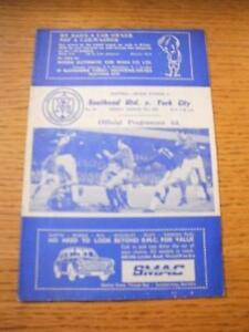 31031967 Southend United v York City  Score Noted No obvious faults unless - <span itemprop=availableAtOrFrom>Birmingham, United Kingdom</span> - Returns accepted within 30 days after the item is delivered, if goods not as described. Buyer assumes responibilty for return proof of postage and costs. Most purchases from business s - Birmingham, United Kingdom