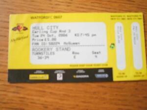 24-10-2006-Ticket-Watford-v-Hull-City-Football-League-Cup-No-obvious-faults