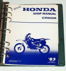 1983-HONDA-CR60R-CR60-CR-60R-Motorcycle-Dealer-Shop-Service-Manual-in-Binder-83