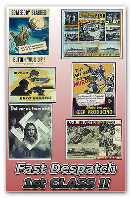 Over 4000 World War 2 POSTER IMAGES great for cards, prints, decoupage, projects