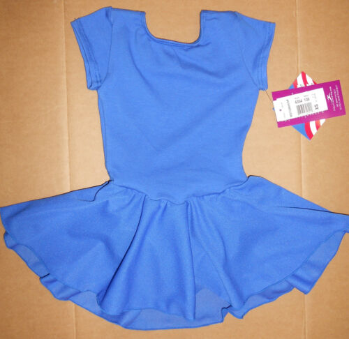 NWT MOTIONWEAR 4354 Cap Sleeve Dance Skirted Leotard 4 Colors Girls Fully lined