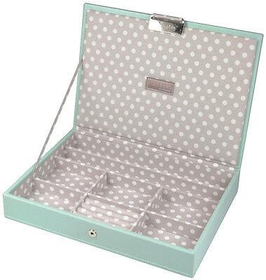 ***Stackers Aqua Blue Jewellery Box Top Lidded Organiser Tray  70577***